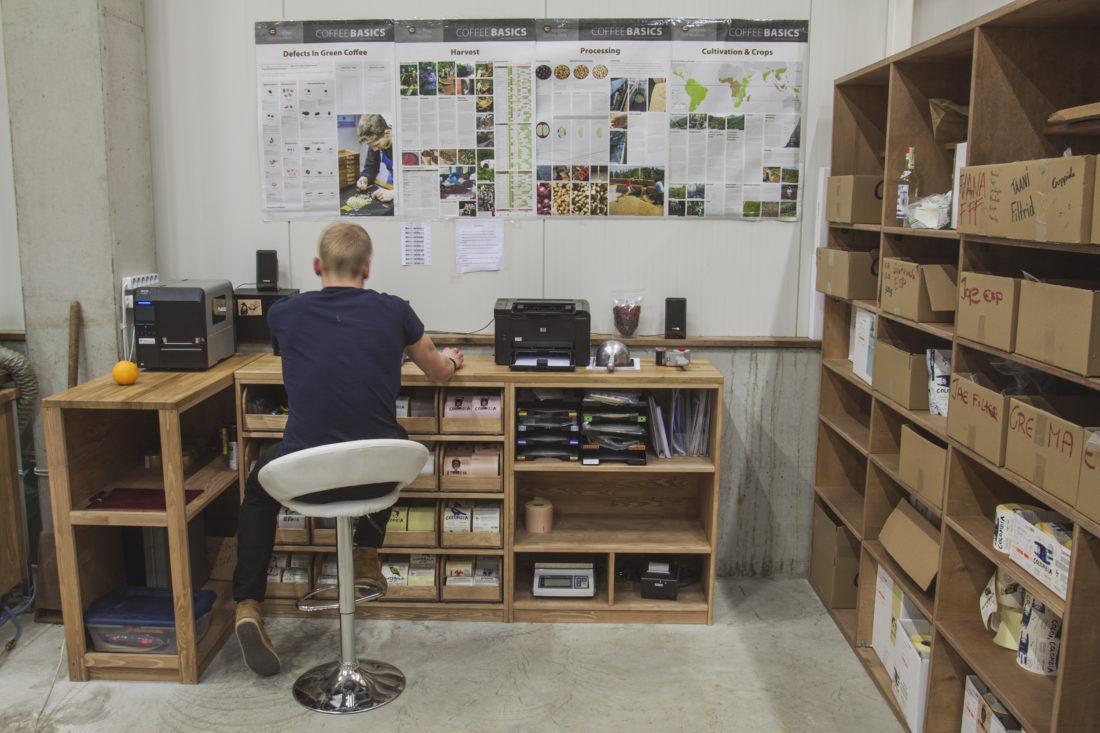 Johan doing work
